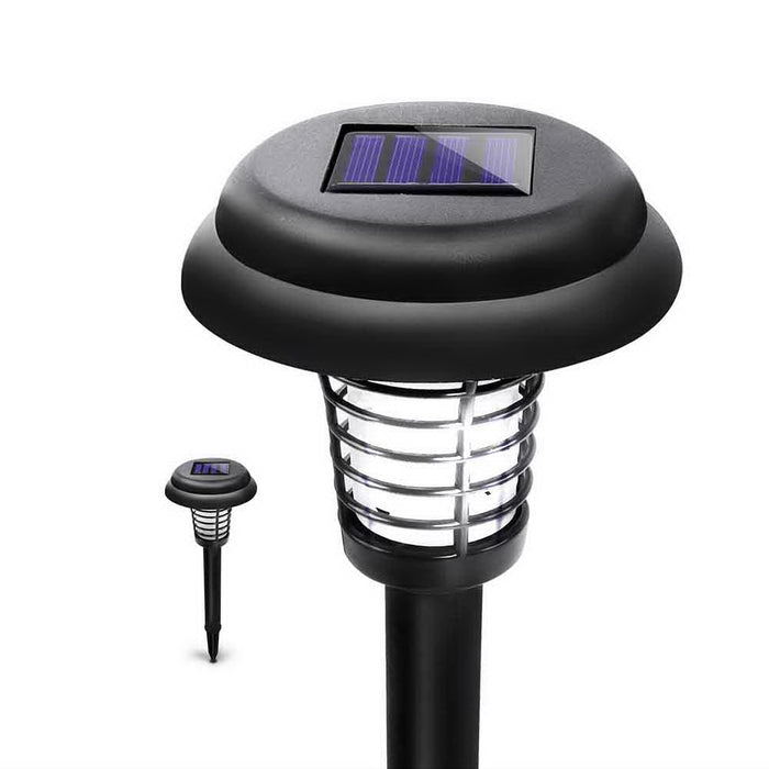 Set of 4 LED Solar Powered Bug Zapper Garden Light