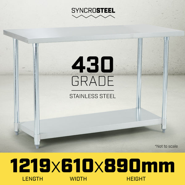 430 Stainless Steel Work Bench 1219 x 610mm