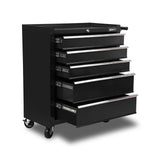 5 Drawers Roller Toolbox Cabinet  Black