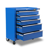 5 Drawers Roller Toolbox Cabinet  Blue