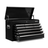 9 Drawers Tool Box Chest Black
