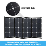 100W Flexible Folding Solar Panel Kit Mono Caravan Camping 12V Battery Charging