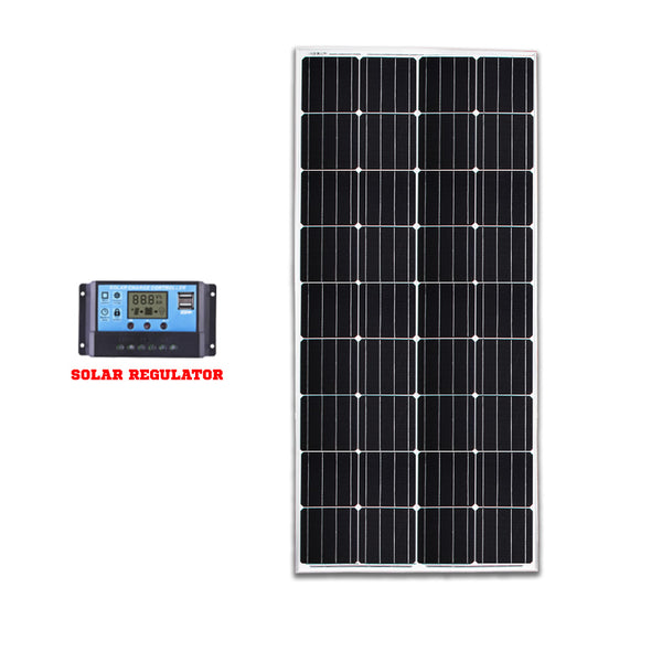 12V 200W Mono Solar Panel Kit Caravan Camping Power Battery Home Charging