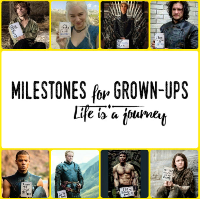 If the characters of Game of Thrones had Milestones for Grown-ups cards
