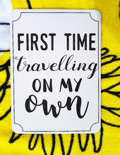 First time travelling on my own. Milestone cards for your 20s. Adulting is hard. Life is a journey... share your ride! Milestone cards for grown-ups. Solo travelling. Love travel. #firsttime #goal #milestone. Be brave and go