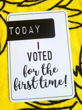 Today I voted for the first time! Milestone cards for your 20s. Adulting is hard. Life is a journey... share your ride! Milestone cards for grown-ups.