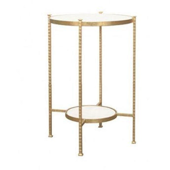 Cory Gold Leaf Side Table