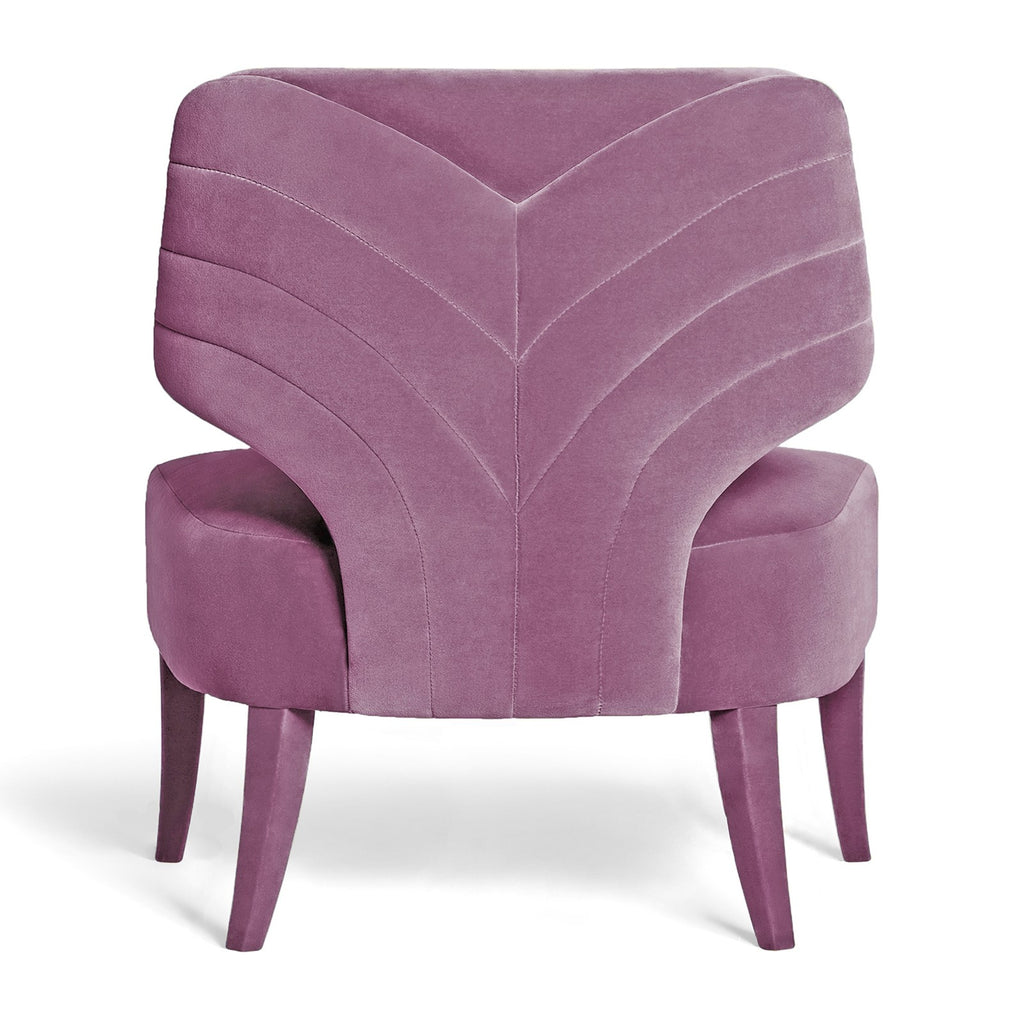 Melody Armchair - Lilac Cotton Velvet