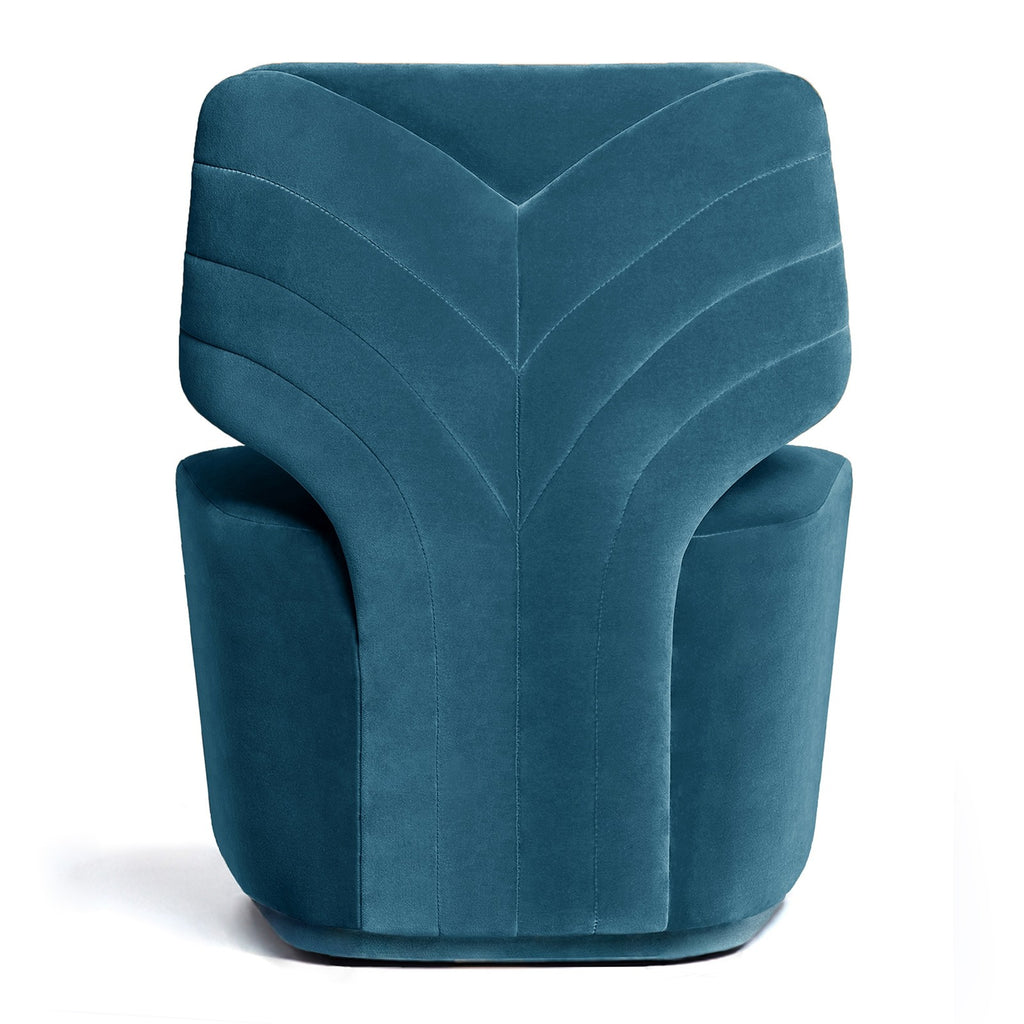 Melody Swivel Armchair - Steel Blue