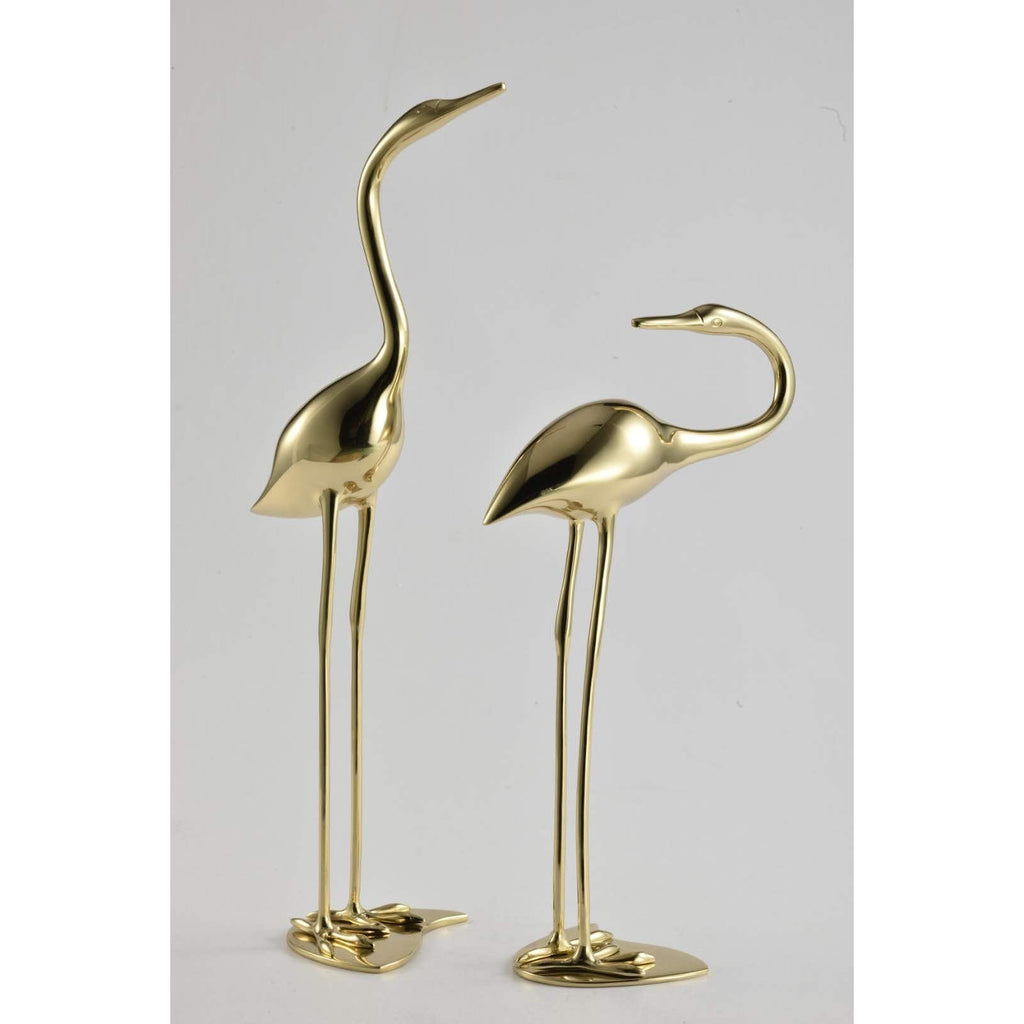 Flamingo couple pair in gold