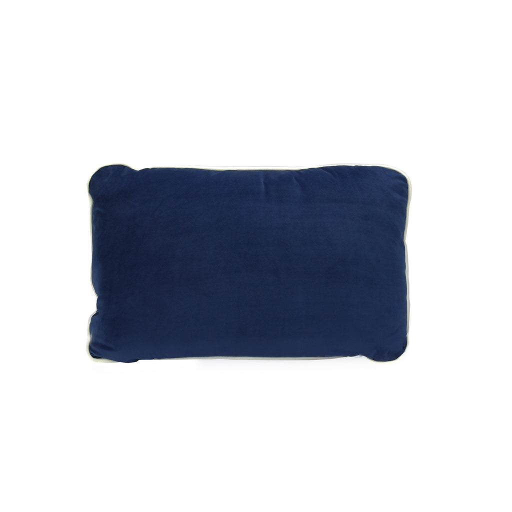 MM01 White Piping Cushion - Navy