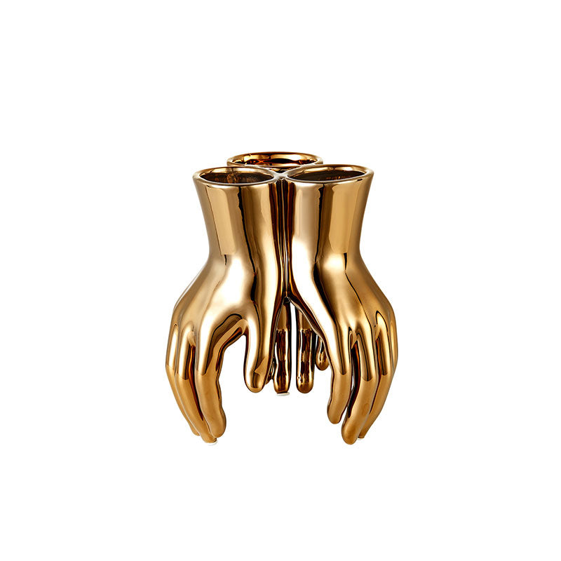 Golden Hand Vase/ Bowl
