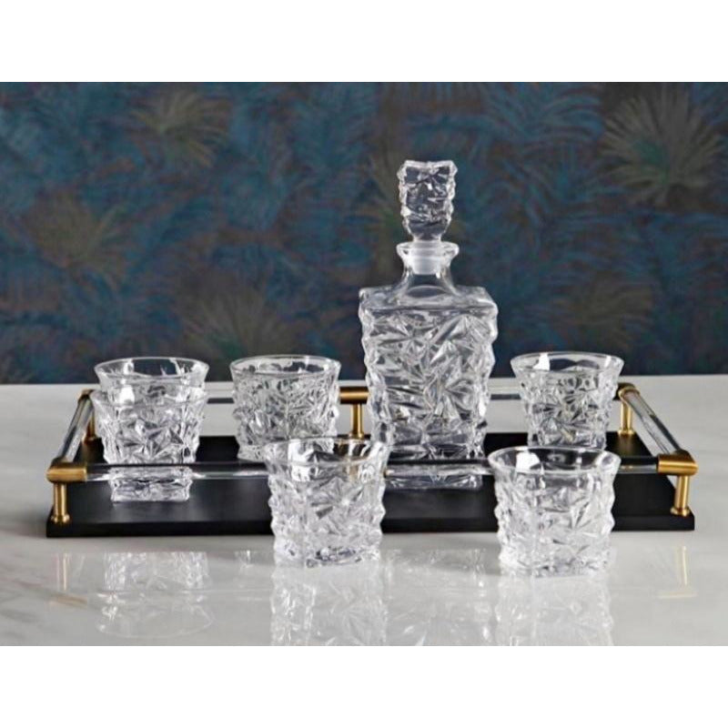 Swivel 7pc decanter set