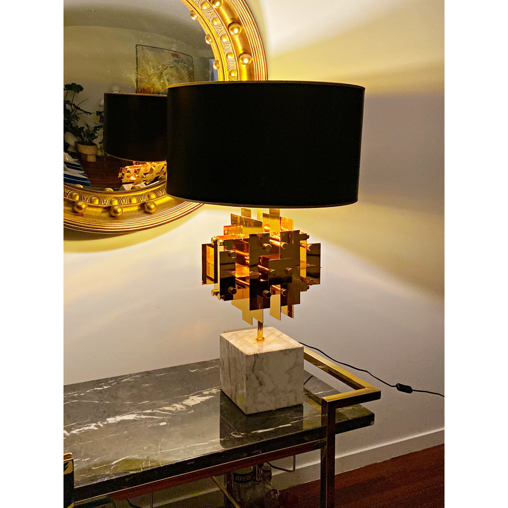 Marble Puzzle Table Lamp