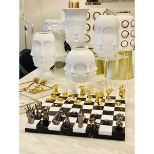 Marble Hand-Sculpture d'art Chess set