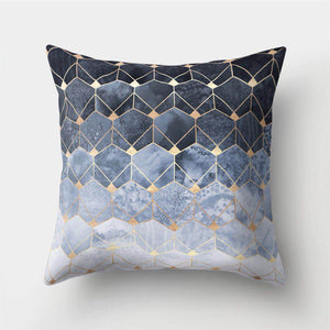 Blue Honeycomb Cushion