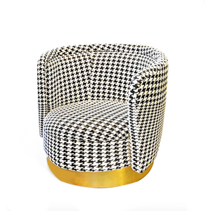 Houndstooth Swivel Chair
