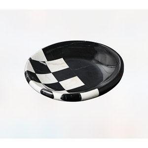 Nero CrossCheck marble bowl