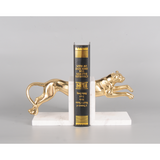 Gold Leopard Marble Bookend