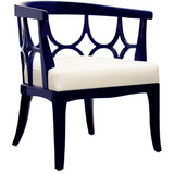 Campbell Navy Lacquer Chair