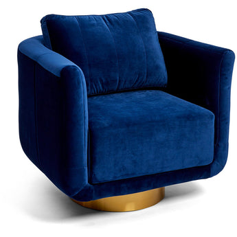 Sorrenti Swivel Chair - Navy