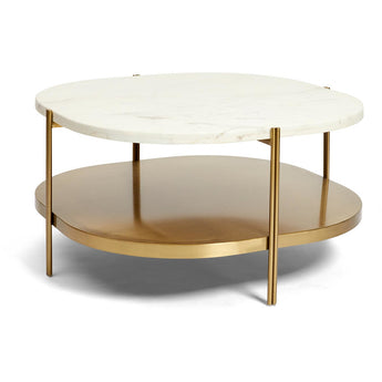 Crag Coffee Table - White