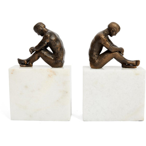 Mr Olympia Bronze Marble Bookends