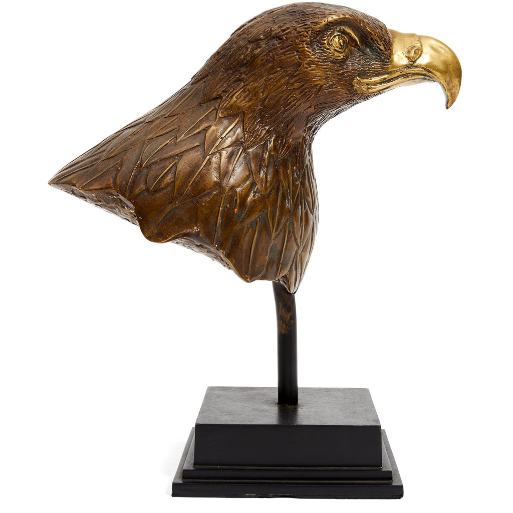 Mid Century Bronze Eagle Sculpture