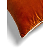 MM01 White Piping Cushion  - Burnt Orange