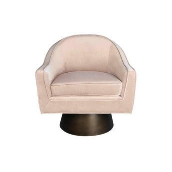 Dominic Velvet Swivel Chair