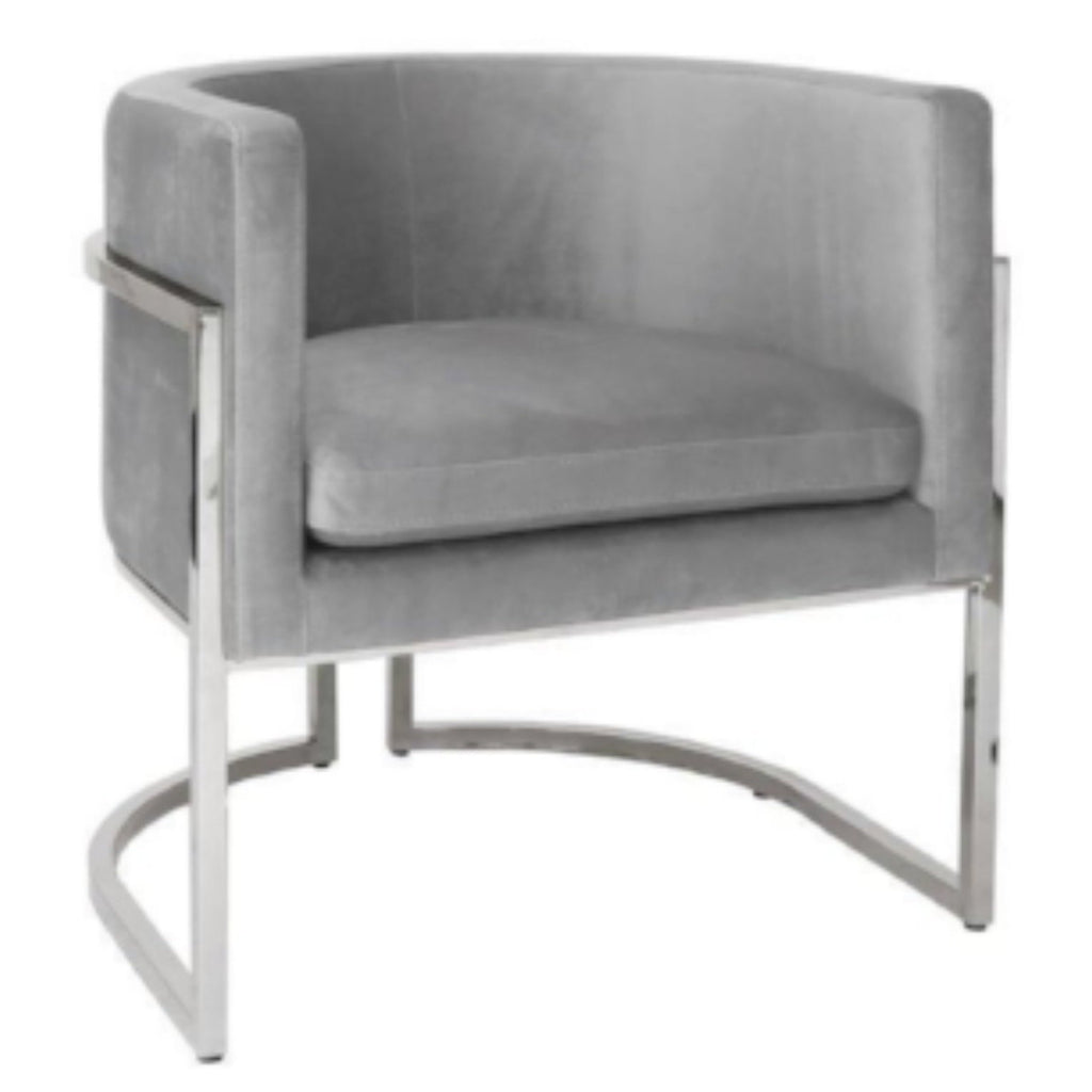 Jenna Armchair with Velvet Seat