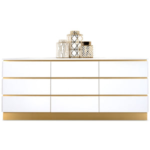 Marseille six drawer credenza