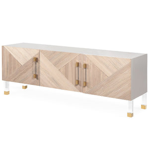 Milan three door credenza