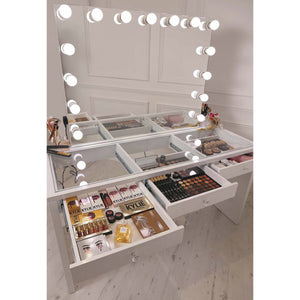 Hollywood bluetooth frameless mirror