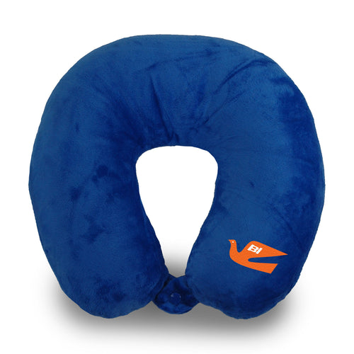 Travel Neck Pillow Braniff Bluebird of Happiness Orange Royal Blue