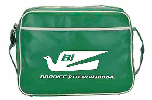 Flight Bag Retro Braniff Alexander Girard Design Bluebird of Happiness Green