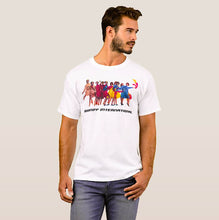 T-Shirt Men's Short Sleeve White Braniff International Air Strip with Pucci Gemini IV Design