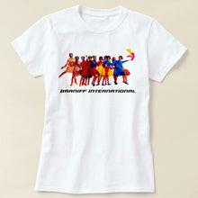 T-Shirt Women's Short Sleeve White Braniff International Air Strip Gemini IV Pucci Design