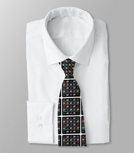 Necktie Men's Braniff Alexander Girard Design BI Multi Color with White Border