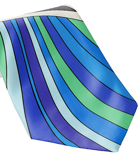 Necktie Men's Braniff Pucci Design 1972 Full Design Blue