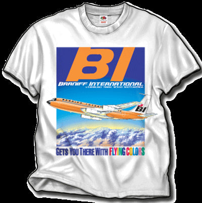 T-Shirt Braniff Sheppard Collection 1967 Solid Scheme 707-327C White
