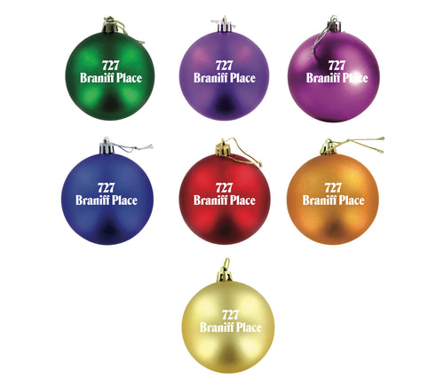 Christmas Ornament Set of 9 727 Braniff Place