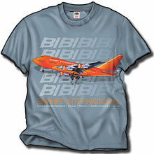 T-Shirt Braniff Sheppard Collection 1979 747SP-27 Stone Blue