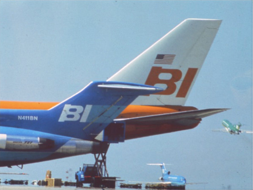 Art Canvas Braniff 747 N601BN and 727s at DFW