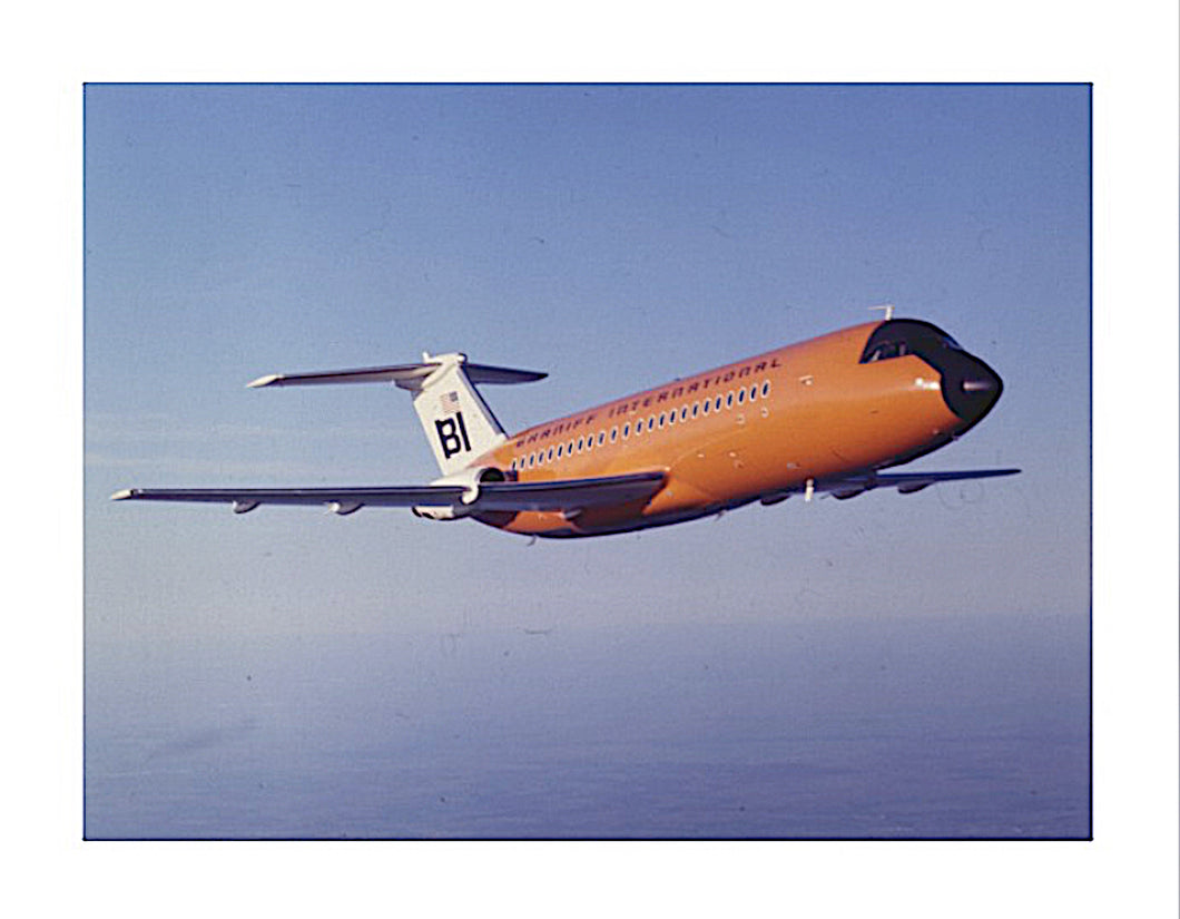 Art Canvas Braniff Orange BAC One-11 Inflight