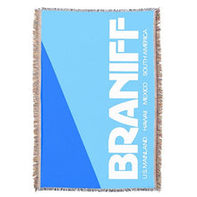 Throw Blanket 727 Braniff Place Two Tone Blue