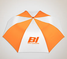 "Umbrella 42"" Multi Color Auto Braniff BI Logo Orange White"
