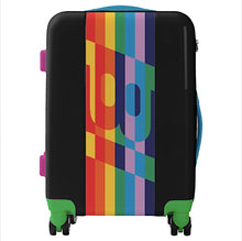 Luggage Ugo Bags Hard Side Spinner Carry On with BI Rainbow Logo