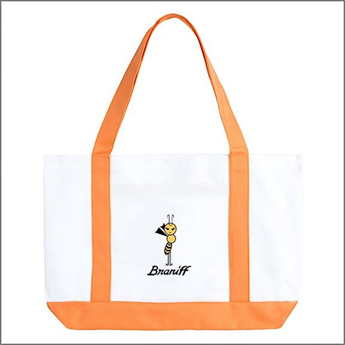Tote Bag Large Boat Braniff Yellow Bee