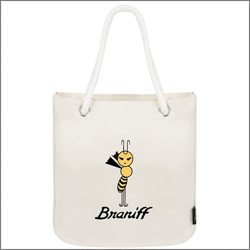 Tote Bag Organic Cotton Rope Braniff Yellow Bee